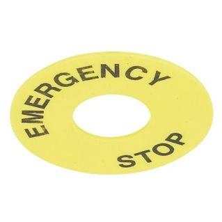 kółko etykieta EMERGENCY STOP