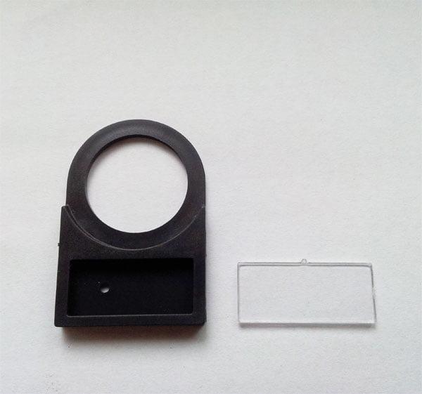 Etykieta do opisu pod przełączniki , przyciski lub lampki; otwór 22mm