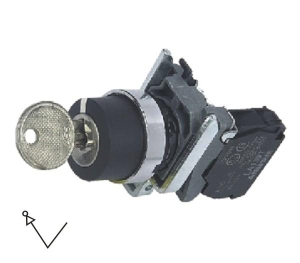 LA139T-BG21 Przełącznik kluczykowy (stacyjka) 2-poz. samoblokujący