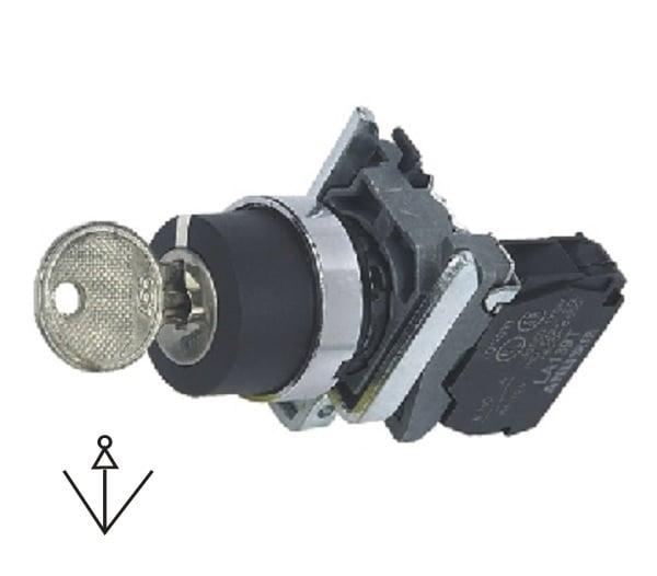 LA139T-BG33 Przełącznik kluczykowy (stacyjka) 3-poz. samoblokujący