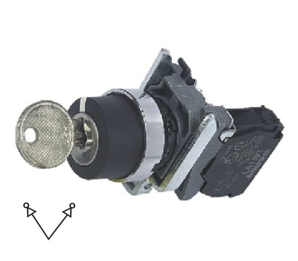 LA139T-BG41 Przełącznik kluczykowy (stacyjka) 2-poz. samoblokujący
