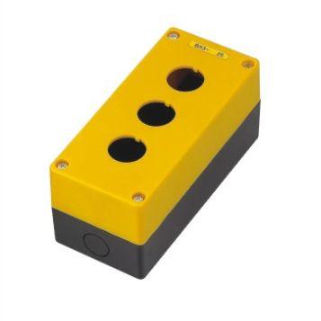 Pusta żółta kaseta sterownicza z 3 otworami 22mm – BX3