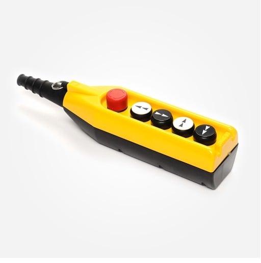 Kaseta sterownicza do suwnic, 4 przyciski + STOP, pojedyncza prędkość PV5E30B22 EMAS