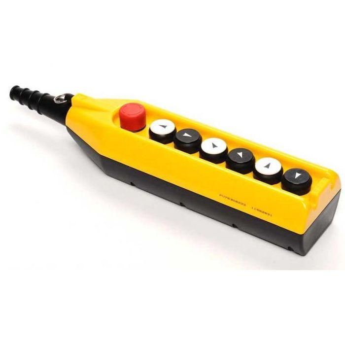 Kaseta sterownicza do suwnic, 6 przycisków + STOP, pojedyncza prędkość PV7E30B222 EMAS