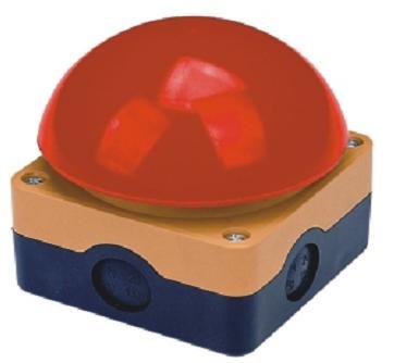 Duży przycisk dłoniowy czerwony STOP z kasetą – LA42JQT