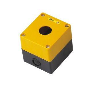 BX1 – Kaseta żółta pusta z 1 otworem 22mm