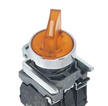 Przełącznik Podświetlany LED 2-poz. samoblokujący LA139T-BK
