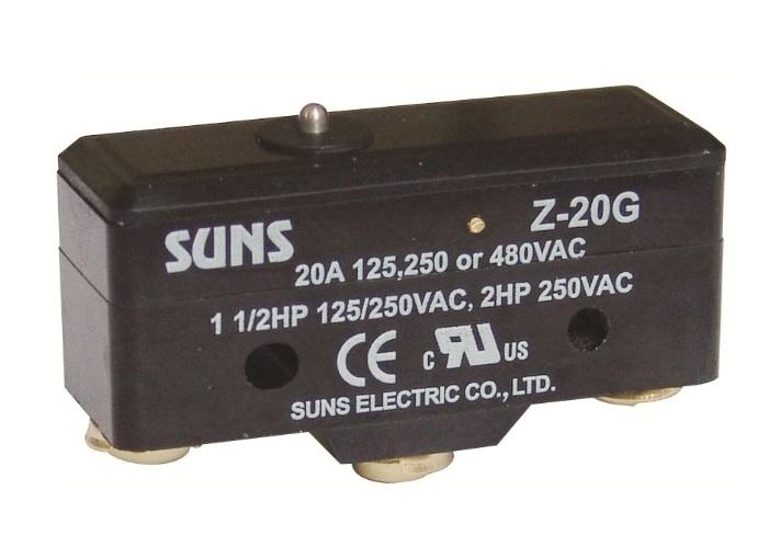 Wyłącznik krańcowy, mikrowyłącznik Z-20G, Z20G