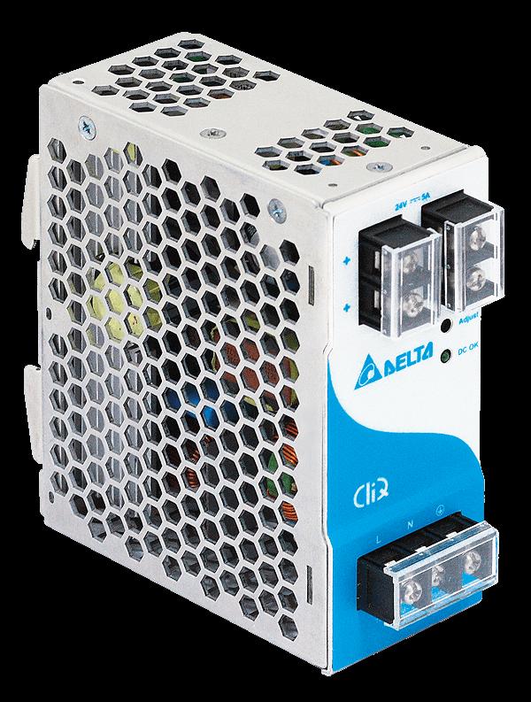 Zasilacz impulsowy 24VDC, 120W; 5A; Delta – 5lat gwar. DRP024V120W1AA