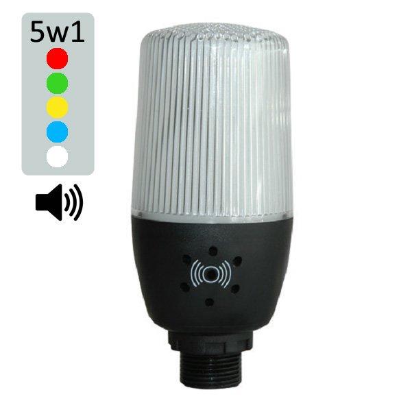 Multi-kolorowa kolumna/lampa LED z Buzzerem 90dB – 5 kolorów w 1 module! – IF05Z