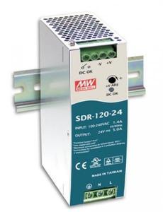 Zasilacz impulsowy 24VDC, 120W; 5A; MeanWell; SDR-120-24
