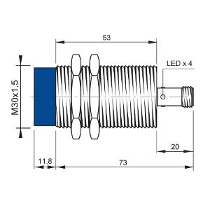 IS-30-C9-S2 – czujnik zbliżeniowy indukcyjny, M30, Sn=15