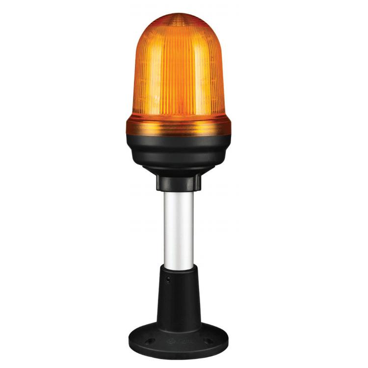 QS70AP – sygnalizator LED, światło migające i stałe, na słupku