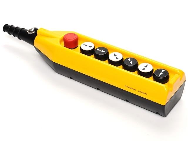 Kaseta sterownicza do suwnic, 6 przycisków dwubiegowych + STOP, pojedyncza prędkość PV7E30B444 EMAS