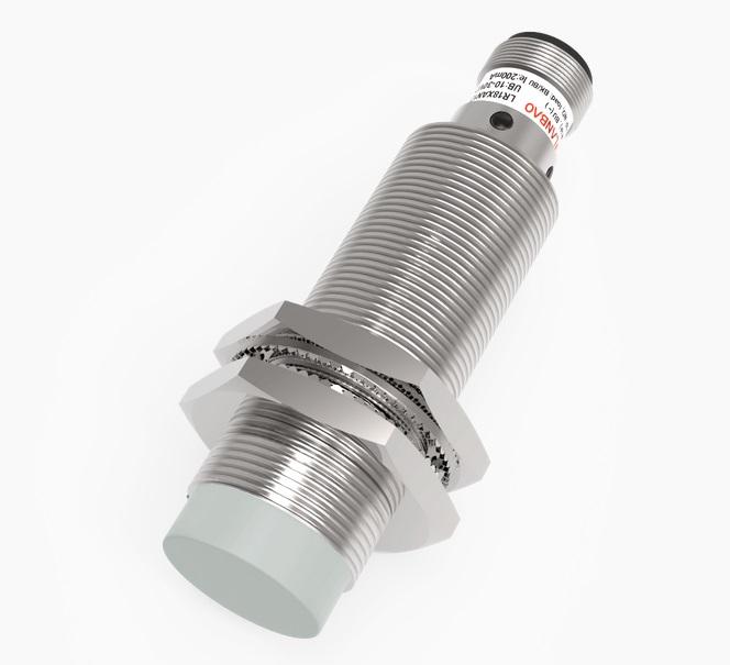 LR18XBN08LIUM-E2 wyjście analogowe – prądowe i napięciowe, czujnik zbliżeniowy, indukcyjny, zasięg Sn=8mm, konektor M12, obudowa M30, DC 15-30V