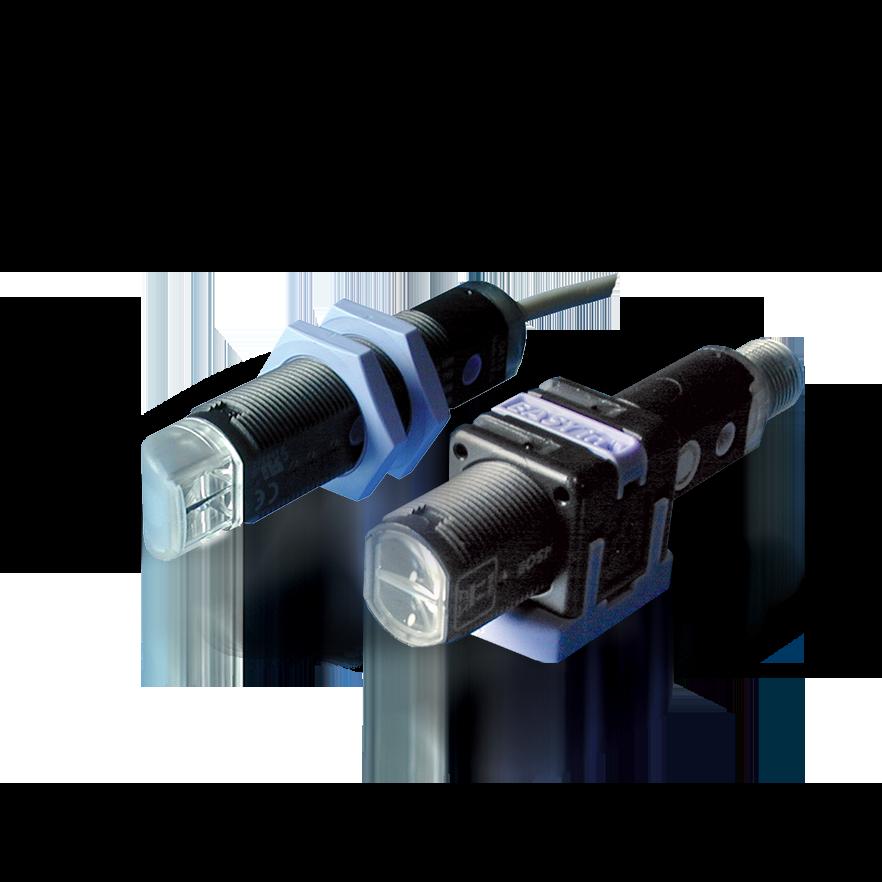 S50-PH-5-B01-PP S5N-PH-5-B01-PP – czujnik laserowy refleksyjny z polaryzacją M18, Sn=16m, plastikowy, kątowy, PNP, NO/NC, konektor M12, DATALOGIC
