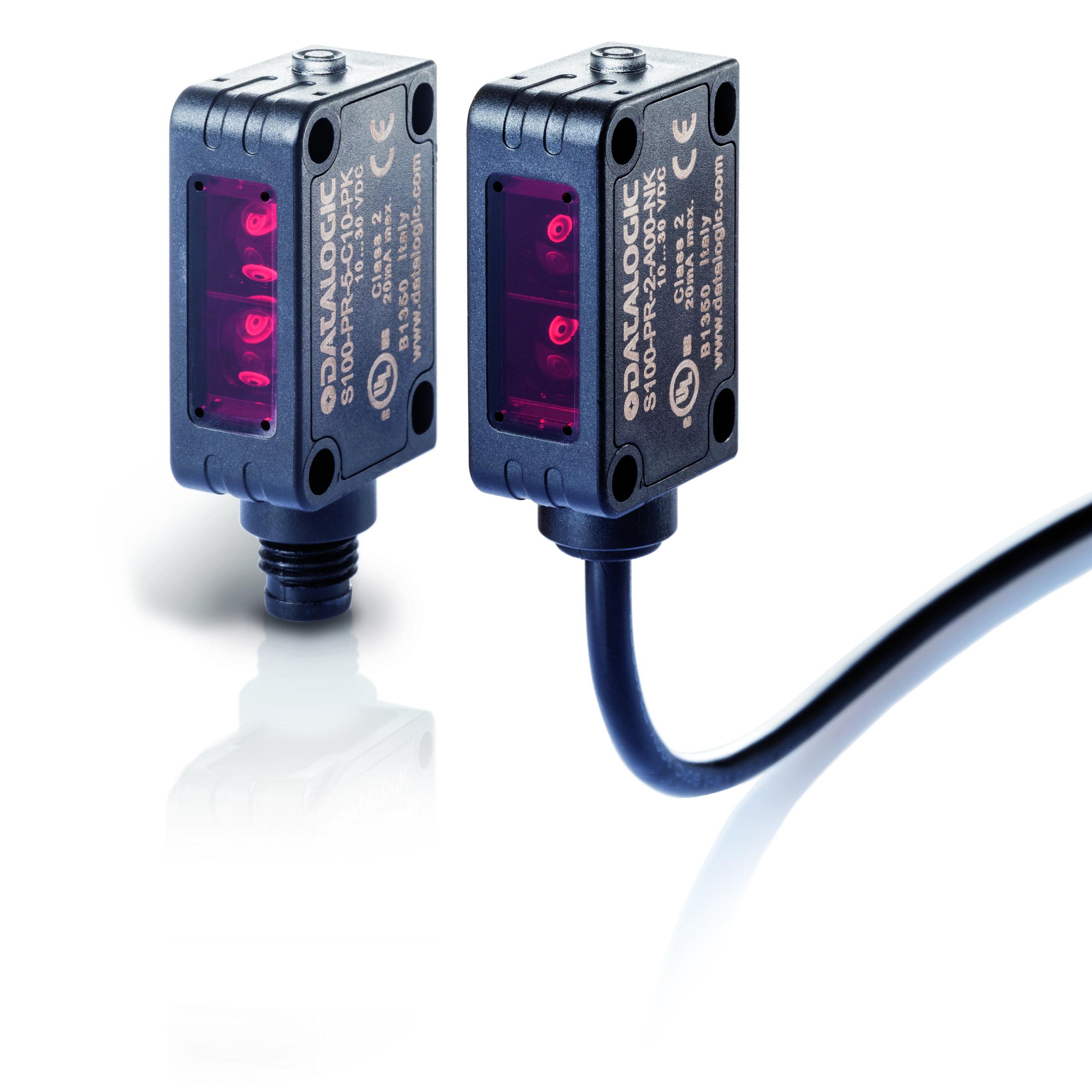 S100-PR-2-FG00-PK Datalogic – czujnik optyczny, bariera, zasięg 12m, PNP, NO/NC, konektor M12/4pin