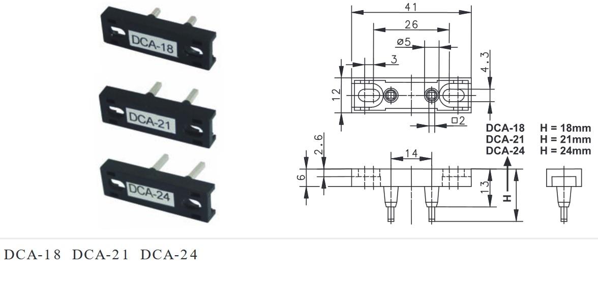 Zwieracz drzwi, zworka, zwora, przeciwkontakt DCA-18 SUNS