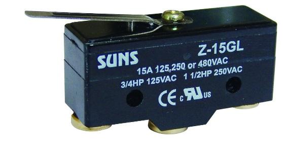 Wyłącznik krańcowy, mikrowyłącznik Z-15GL Z15GL SUNS
