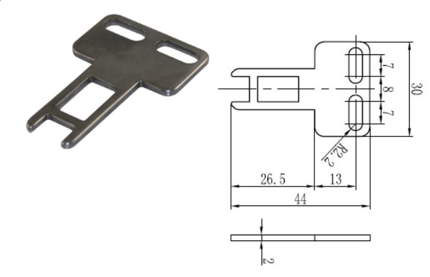 SND-K1 klucz prosty do SND2, SND4, SMN4 i SND6 SUNS