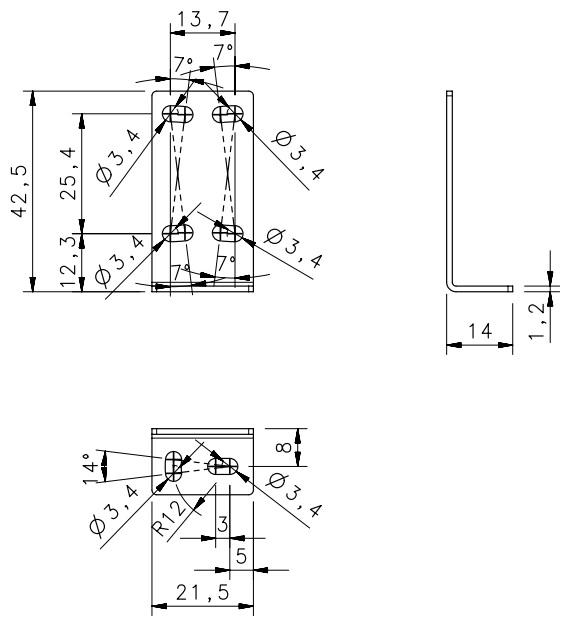 Uchwyt kątowy do czujników S3Z S100 -Datalogic ST-5039, kątownik montażowy 95ACC2270