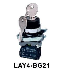 LAY4-BG21 Przełącznik kluczykowy (stacyjka) 2-poz. samoblokujący