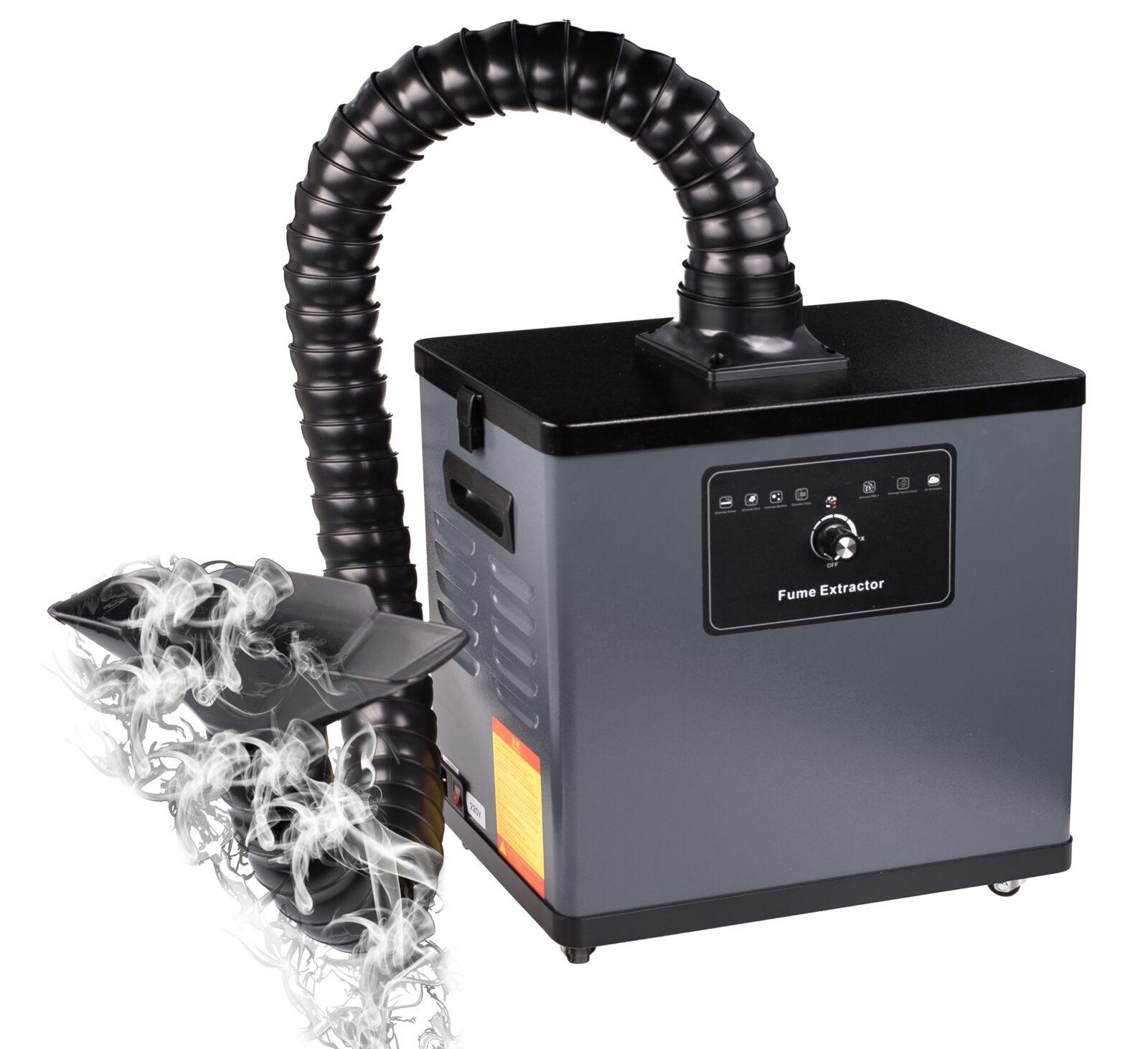 Pochłaniacz dymu, oparów lutowniczych, odciąg, filtr spawalniczy 80W X1001