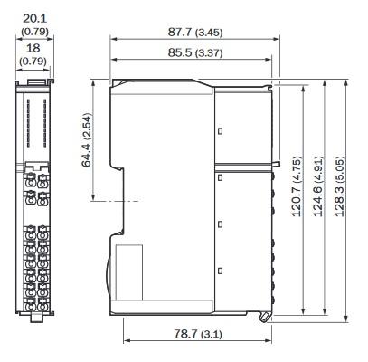 RLY3-EMSS100 przekaźnik bezpieczeństwa SICK wymiary