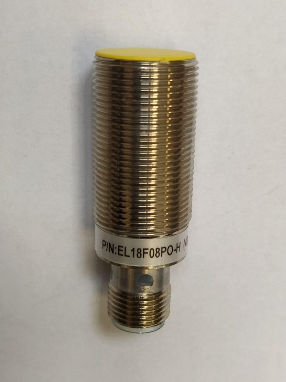 EL18F08PO-H(48) – czujnik indukcyjny M18, Sn=8mm, PNP NO, konektor M12, długość 48mm, Indual EcoLine