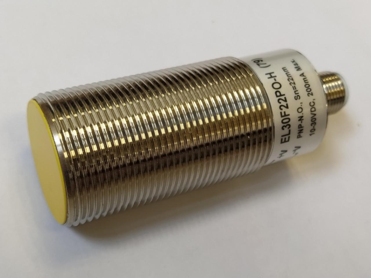 EL30F22PO-H (79) – czujnik indukcyjny M30, Sn=22mm, PNP NO, konektor M12, długość 79mm, Indual EcoLine