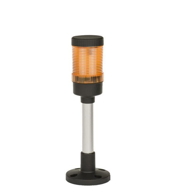 Kolumna sygnalizacyjna, wieża, sygnalizator LED FL50 – kolor pomarańczowy + buzzer, 230V AC